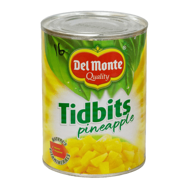 Alfatah Canned Food Delmonte Tidbits Pineapple 560 gm