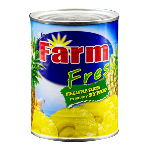 Alfatah Canned Food Farm Fresh Pineapple Slices In Heavy Syrup 567 gm