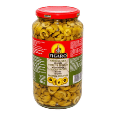 PMART.PK-PAKISTAN MART- ONLINE GROCERY STORE jams-spreads Figaro Olives Sliced green 920 gm