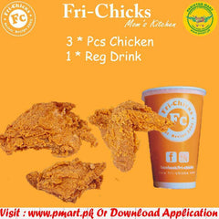 Fr-Chicks SKT Fri-Chicks SKT Fri-Chicks - Meal 3 ( 3 * Piece Chicken, 1 * Reg Drink )