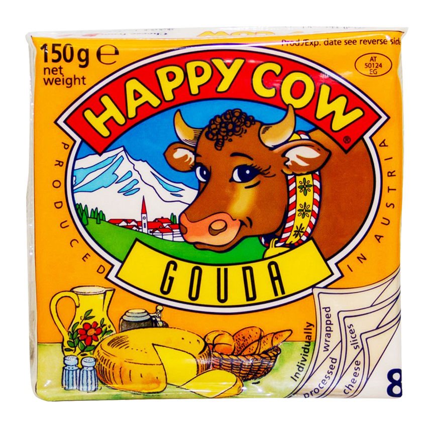 Alfatah DAIRY Happy Cow Gouda Cheese 8 Slices 150 gm