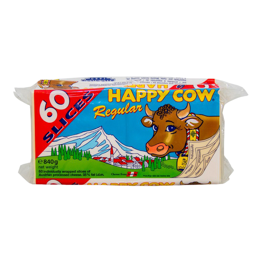 Alfatah DAIRY Happy Cow Regular Cheese 60 Slices 840 gm