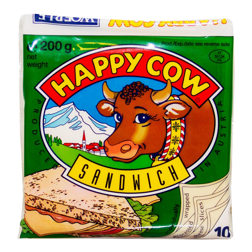 Alfatah DAIRY Happy Cow Sandwich Cheese 10 Slices 200 gm
