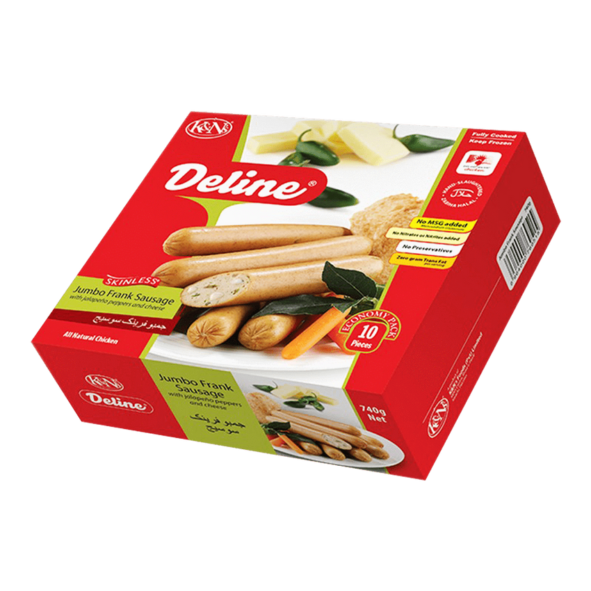 Alfatah FROZEN FOOD K&N's Jumbo Frank With Jalapeno Peppers And Cheese Pc