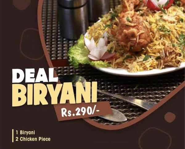 PAKISTAN MART | Grocery Delivery Karachi Chicken Bryani Plate (Large) + 2 Extra Chicken Pc