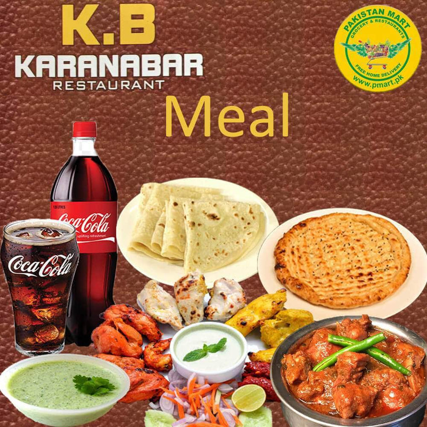 KARANABAR karanabar KARANABAR Meal 6 - Chicken Handi (reg), Chicken Kabab  * 4Pcs, Chicken Boti * 8Pcs, Roghni Naan * 4, Mint Sauce and Fresh Salad, Drink 1.5Ltr