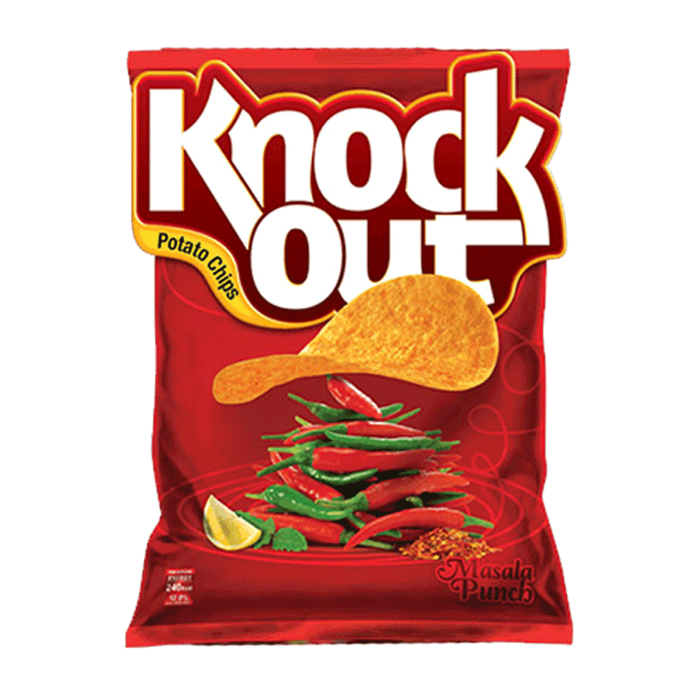 Alfatah SNACKS Knock Out Potato Chips Masala Punch 14 gm