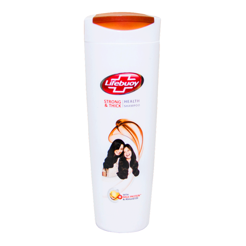 Alfatah BATH ITEMS Lifebuoy Shampoo Strong & Health Milk 375 ml