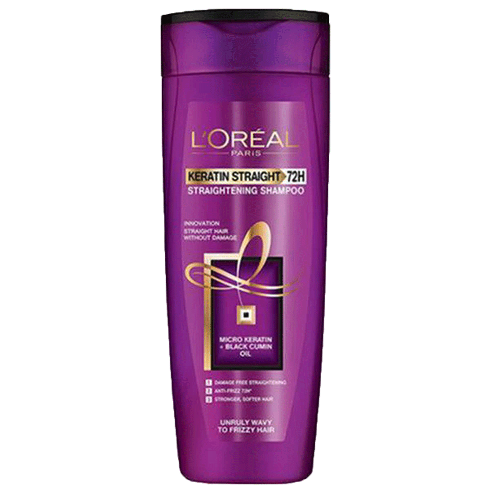 Alfatah BATH ITEMS Loreal Shampoo Keratin Straight 72H 360 ml
