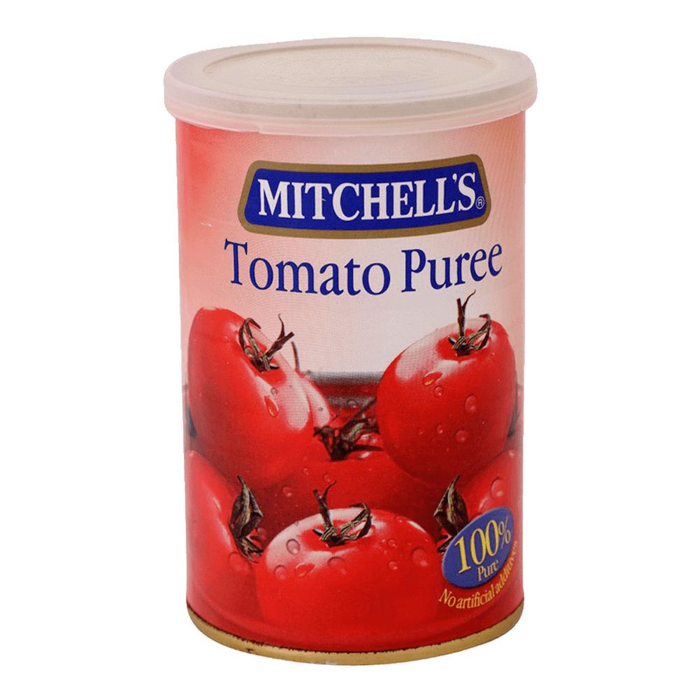 Alfatah Canned Food Mitchells Tomato Puree Tin 450 gm
