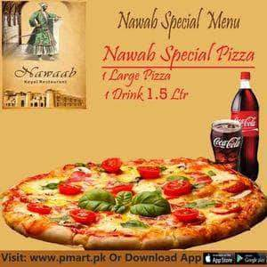 nawab Nawab Nawab Fast Food - 1 Large  Special Pizza,  1 Drink 1.5 Ltr