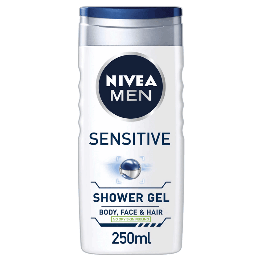 Alfatah BATH ITEMS Nivea Men Shower Gel Sensitive 250 ml