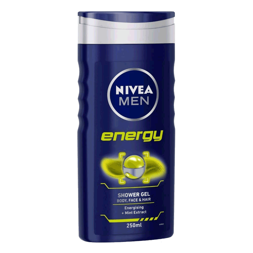 Alfatah BATH ITEMS Nivea Shower Gel Energy For Men 250 ml
