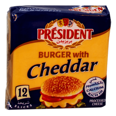 Alfatah DAIRY President Burger With Cheddar 12 Slices