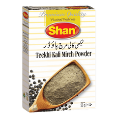 Alfatah Spices & Herbs Shan Teekhi Kali Mirch Powder 50 gm