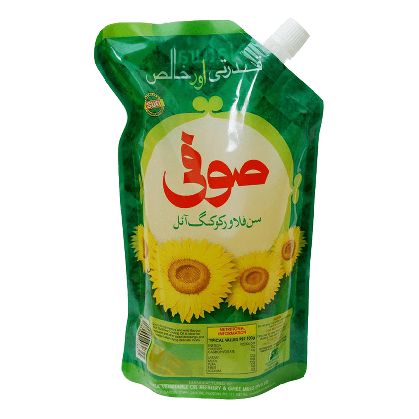 Alfatah COOKING OIL Sufi Sunflower Cooking Oil Nozzle 1 ltr