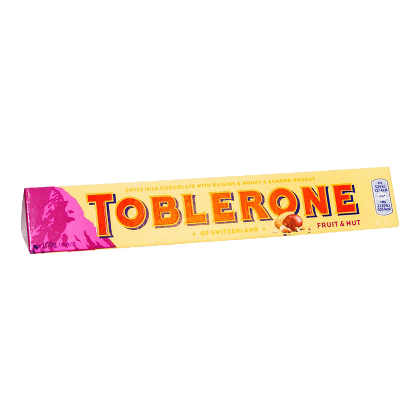 Alfatah SNACKS Toblerone Fruit & Nut Chocolate 100 gm