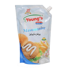 Alfatah Spices & Herbs Youngs French Mayonnaise 1 ltr Pouch