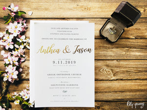 Anthea Printed invite