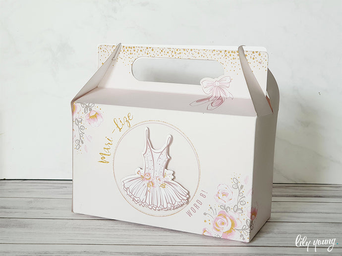 Ballerina Party Boxes - Pack of 12