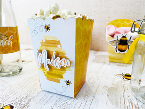 Bee Popcorn Box - Pack of 12