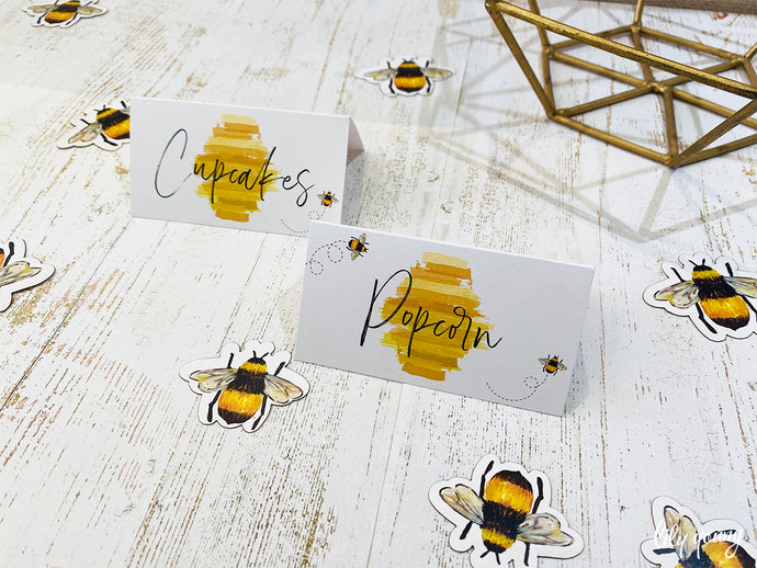 Bee Food tags - Pack of 12