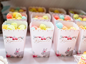 Floral Bunny Popcorn Box - Pack of 12