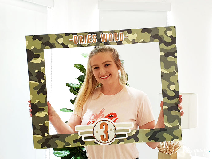Camo Photo booth sign - Pack of 1