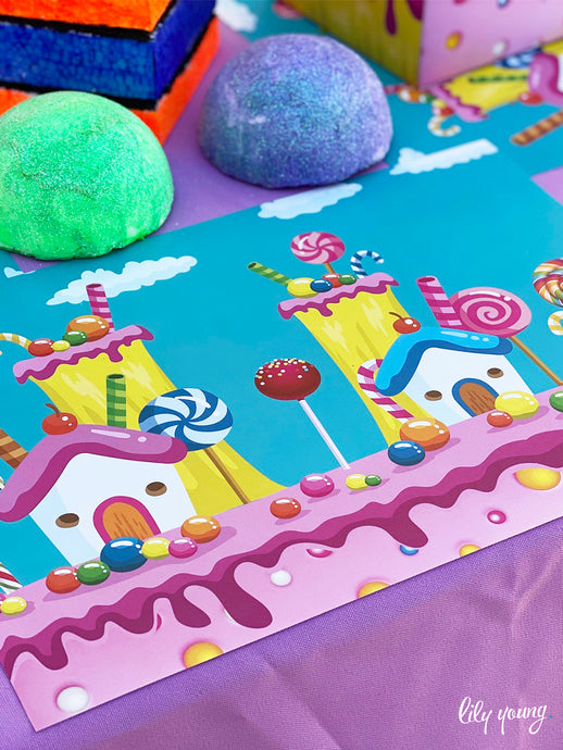 Candy Land Under plates - Pack of 12