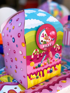 Large Candy Land Party Boxes - Pack of 12