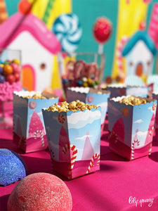 Candy Land Popcorn Box - Pack of 12