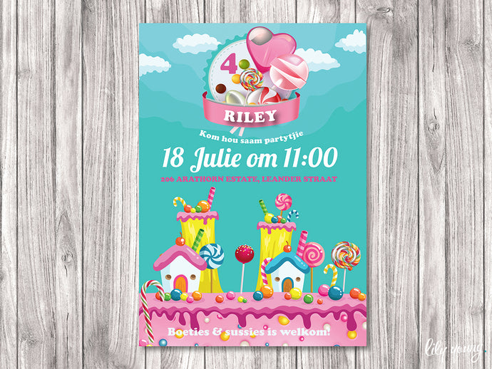 Candy Land E-Invitation