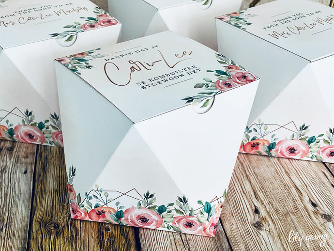 Floral Party Box - Pack of 12