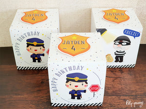 Cops & Robbers Party Boxes - Pack of 12