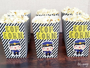 Cops & Robbers Popcorn Box - Pack of 12