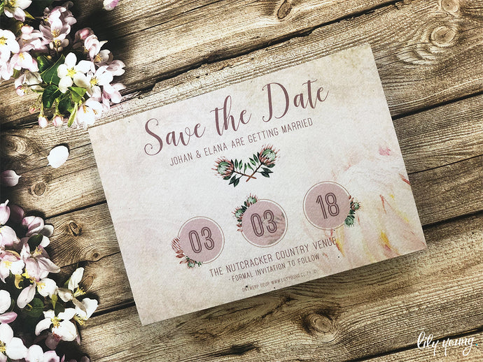 Elana Printed save the date