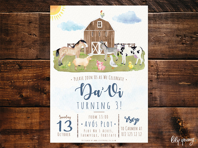Farm E-Invitation