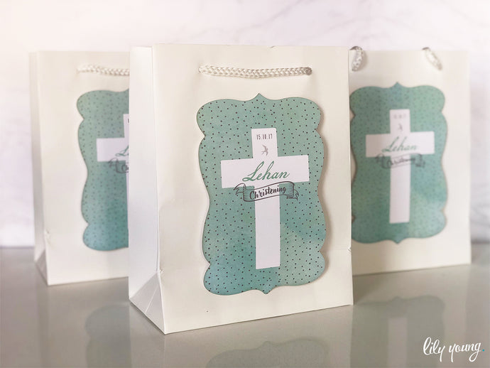 Boy Mint Favour Bags - Large - Pack of 12