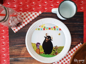 Ferdinand Plate with sticker - Pack of 12