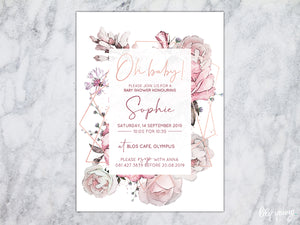 Floral Baby shower E-Invitation