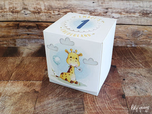 Water colour Giraffe Party Boxes - Pack of 12