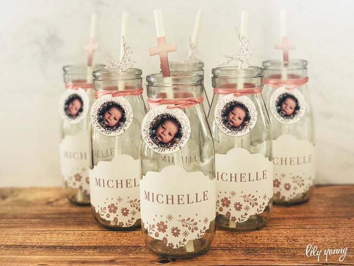 Girl Blush Bottle Labels - Pack of 12