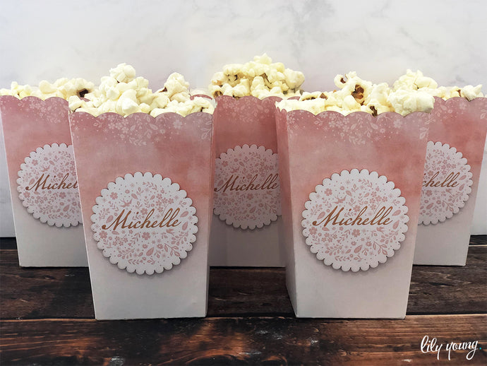 Girl Blush Popcorn Box - Pack of 12