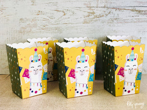 Llama Popcorn Box - Pack of 12