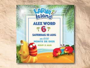 Larva Island E-Invitation