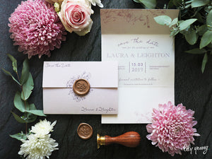 Lara Printed save the date