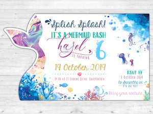 Mermaid E-Invitation