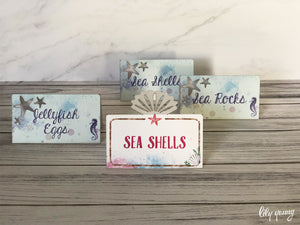 Mermaid Food tags - Pack of 12