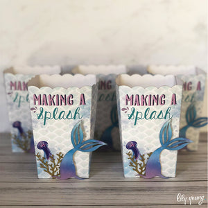 Mermaid Popcorn box - Pack of 12