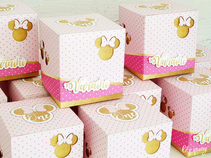 Minnie Mouse Party Boxes - Pack of 12